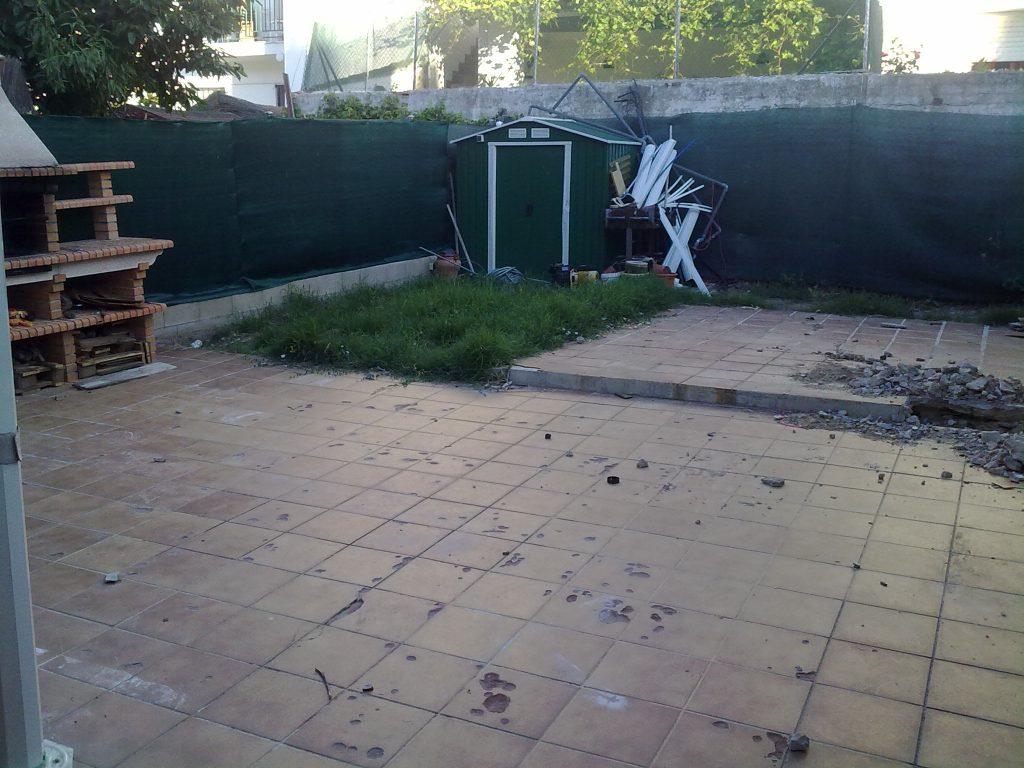 antes construccion piscina madrid