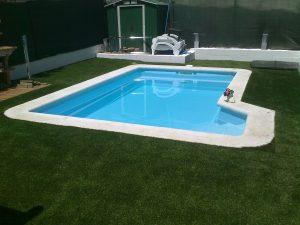 Antes y después al construir una piscina en Madrid